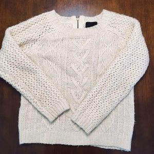 Cynthia Rowley Cream Chunk Knit Sweater